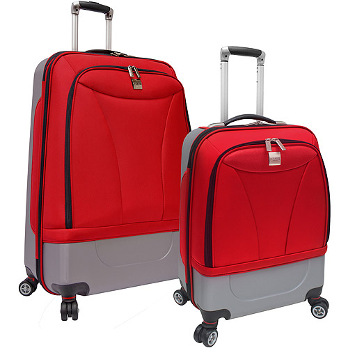 U.S. Traveler Versatile Hybrid Spinner 2-Piece Luggage Set