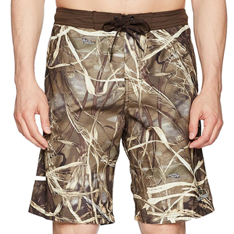 Realtree Mens Advantage Max-4 HD Camouflage Swim Trunks B...