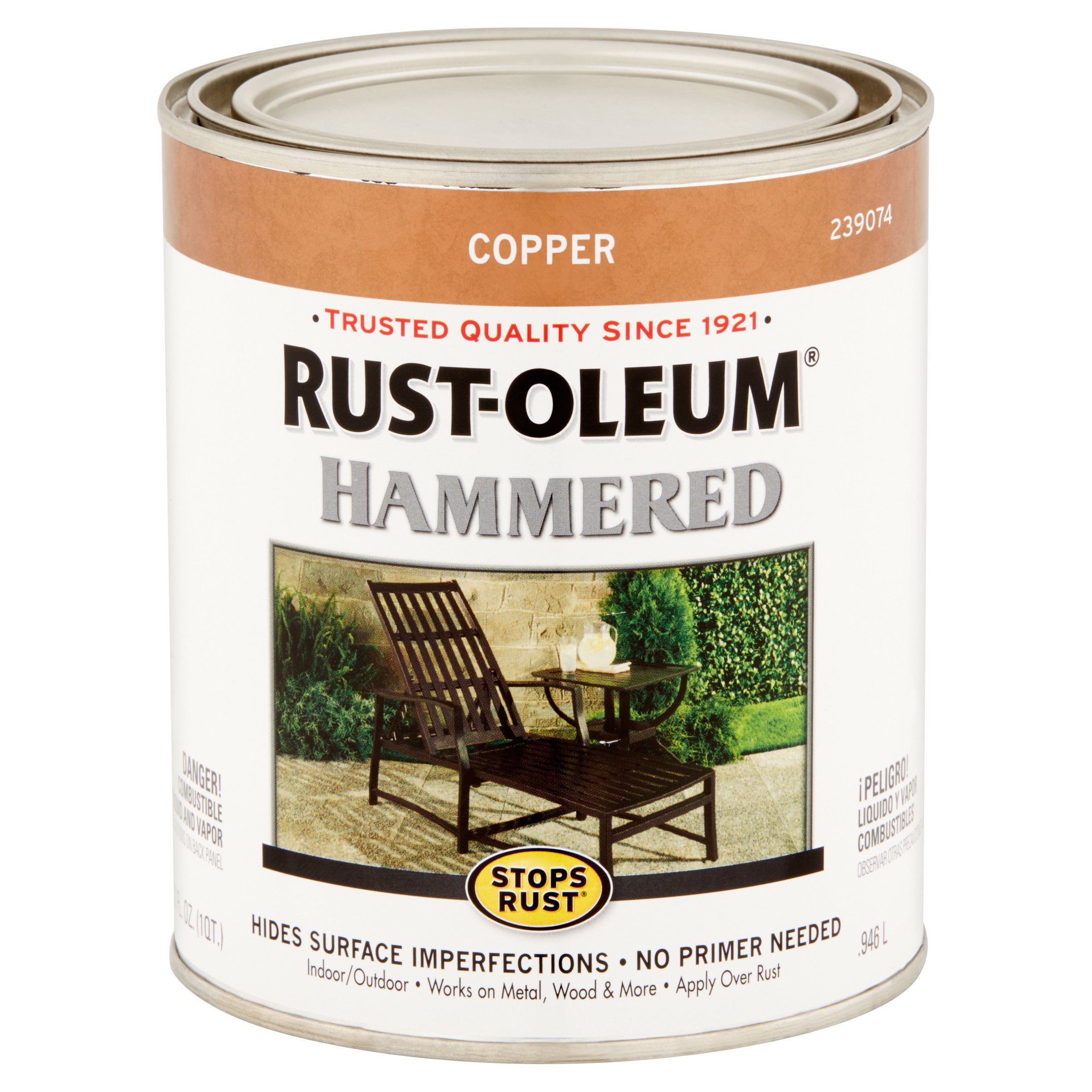 Rust Oleum Stops Rust Copper Hammered Paint 32 Fl Oz