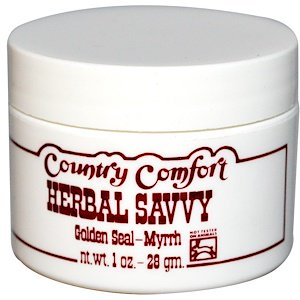 Country Comfort, Herbal Savvy, Golden Seal-Myrrh, 1 oz (28 g) (Pack of 1)