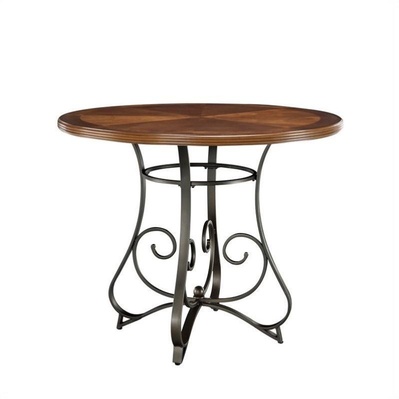 Powell Furniture Hamilton Gathering Dining Table in Medium Cherry