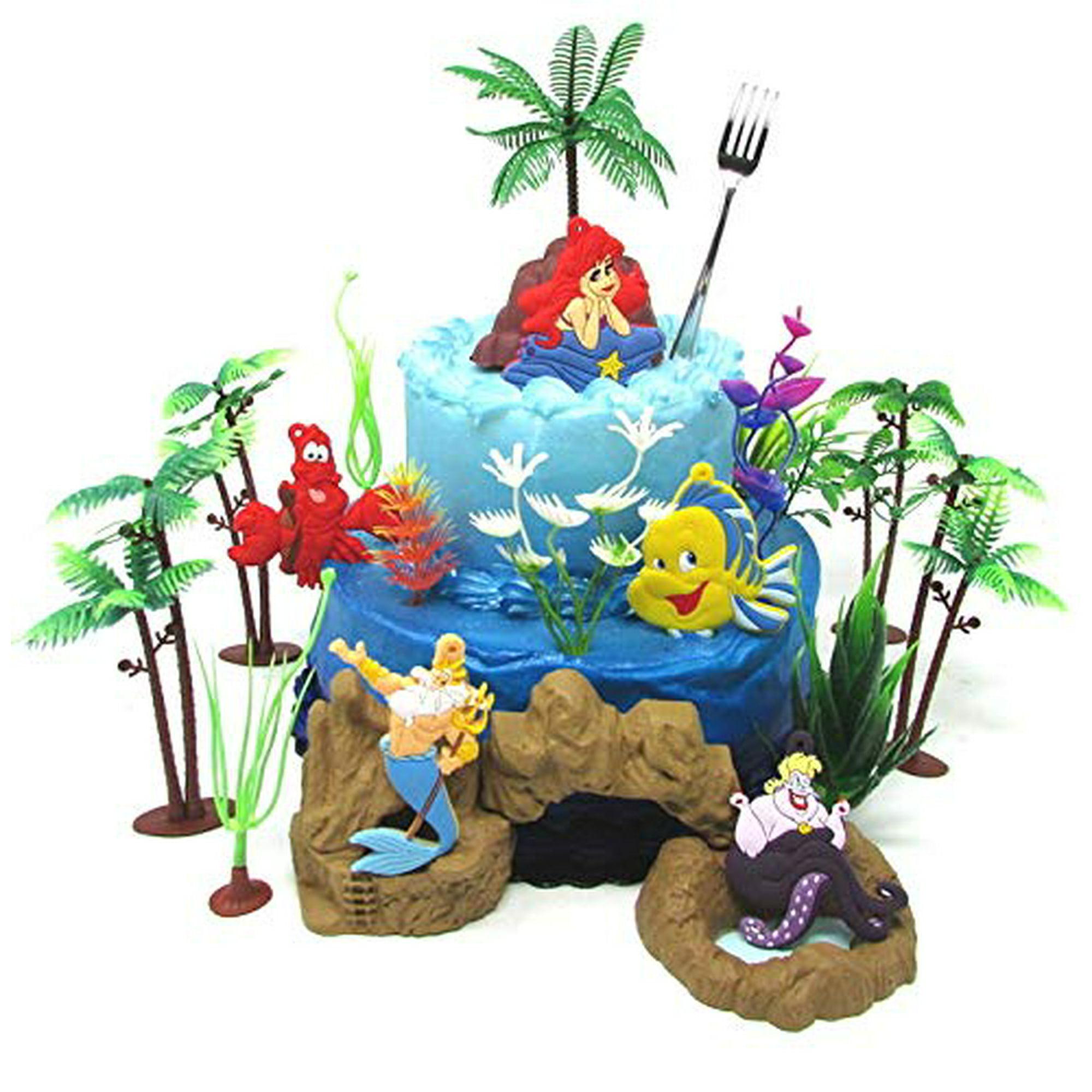 Brilliant Little Mermaid Princess Ariel Themed Birthday Cake Topper Set Funny Birthday Cards Online Drosicarndamsfinfo