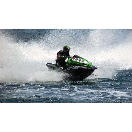Laminated Poster Water Jet Ski Fast Speed Summer Fun Sport