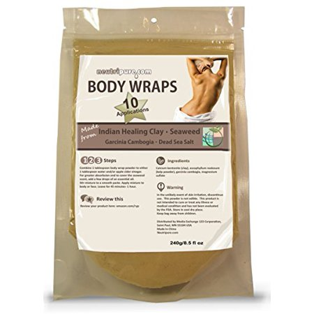 - Body Wraps - Indian Healing Clay & Seaweed - Beaks Down Fat Deposits 10-Pack