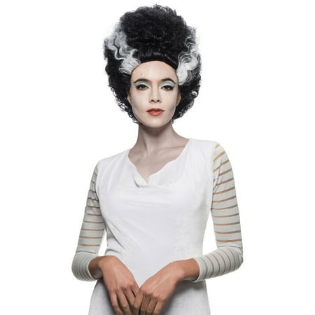 Universal Monsters Bride Of Frankenstein Halloween Costume Accessory Wig - Evil Bride Halloween Costume