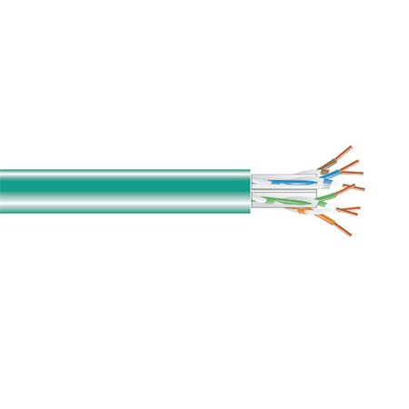 Black Box Network Services C6ABC51-GN-1000 Cat6a Solid Bulk Cable - Plenum, Green & 1000 ft. - image 1 of 1