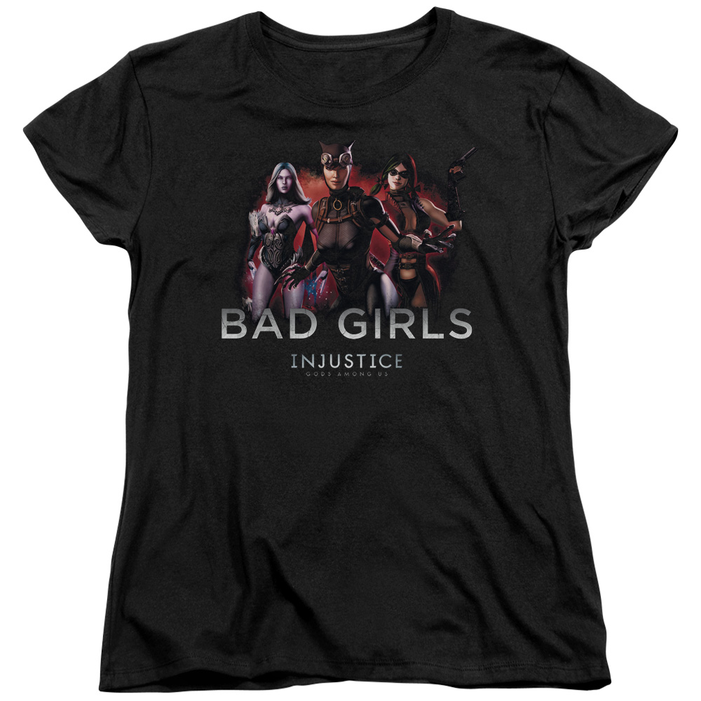 Injustice Gods Among Us Bad Girls Womens Short Sleeve Shirt