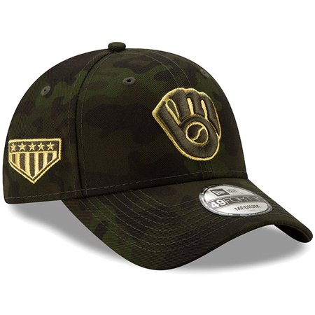 Milwaukee Brewers New Era 2019 MLB Armed Forces Day 49FORTY Fitted Hat -