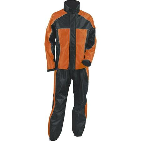 Milwaukee Leather Milwaukee Leather Performance Rainsuits SH2222 Ladies Orange & Black Rain Suit Water Proof with Reflective Piping Orange 2X-Small Orange Black Leather