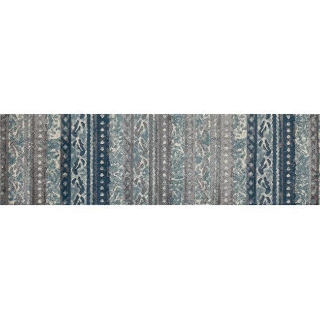 Art Carpet 21803 2 X 8 Ft Novi Collection Flowing Woven Area Rug Runner 44 Blue Walmart Com Walmart Com