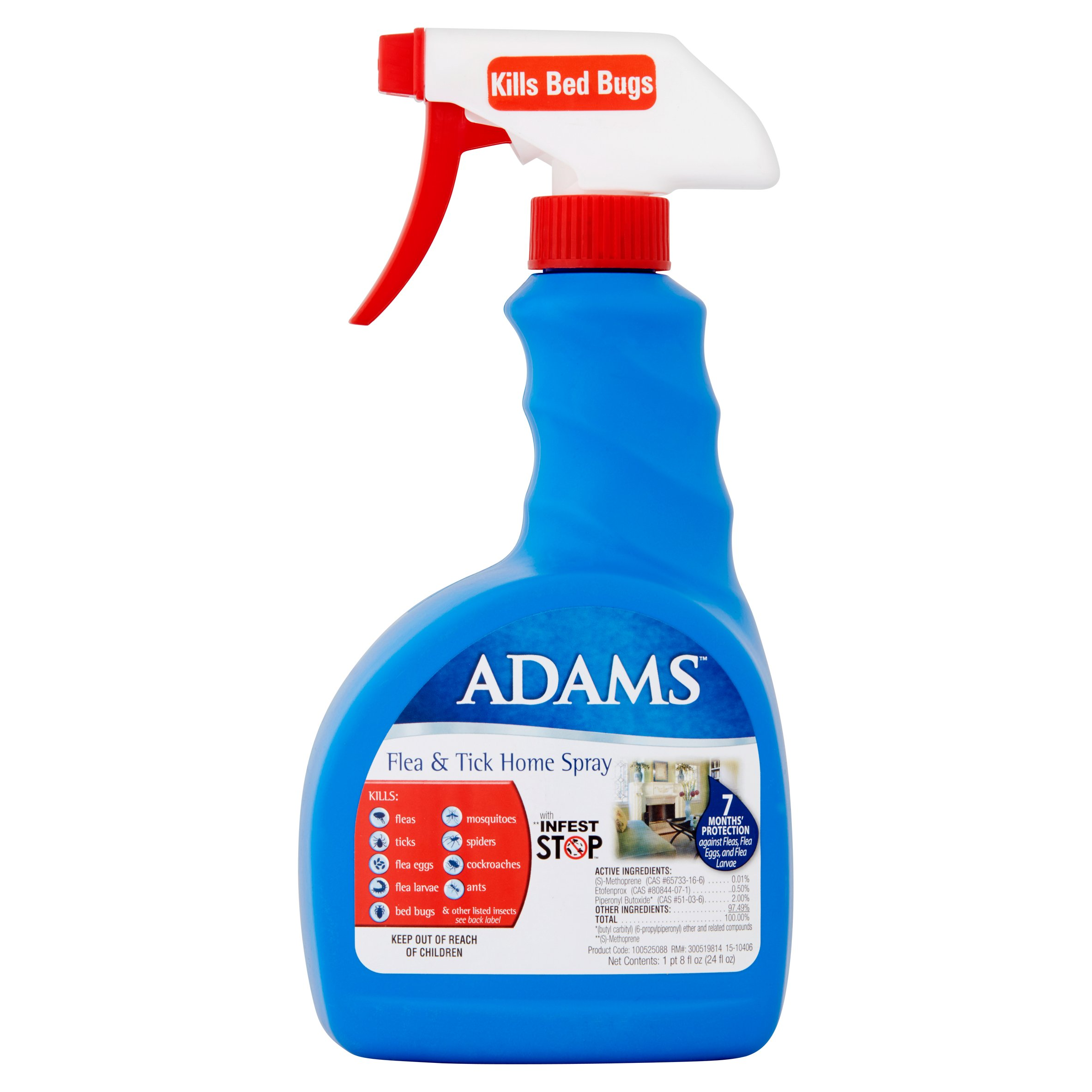 Adams Flea and Tick Control Home Spray, 24 oz