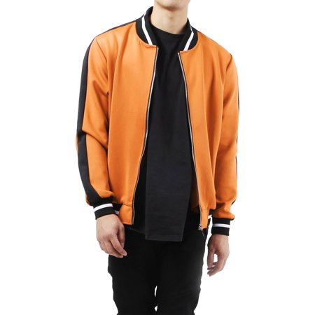 Men's Casual Stretch Slim Fit Track Bomber Jacket