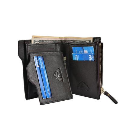 - Hopsooken Mens Leather Bifold Wallet Rfid Men Slim Front Pocket Wallet Slid Vertical Wallet