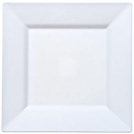 (Lillian Plastic Dinnerware Square Plastic Plate, 10 3/4