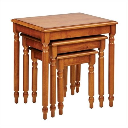 Knob Hill Piece Nesting Table Set In Antique Cherry Walmartcom - 3 piece nesting coffee table