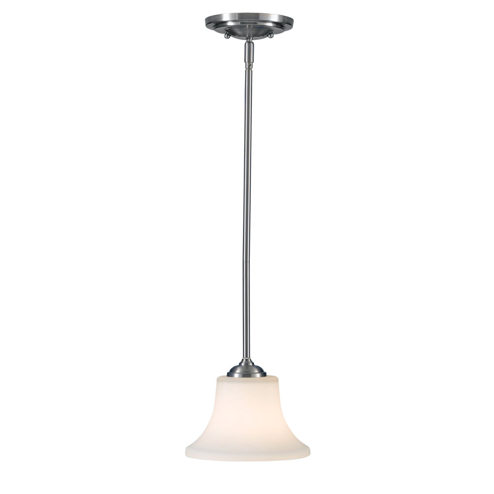 Feiss Barrington Mini Pendant 8W in. Brushed Steel by Murray Feiss