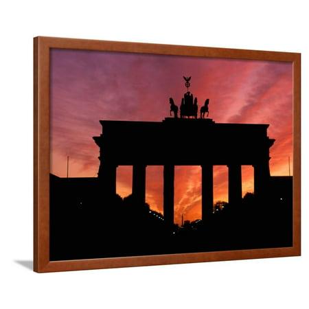 Brandenburg Gate, Unter Den Linden, Berlin, Germany Framed Print Wall Art By Dave (Gate Unter Den Linden Berlin)