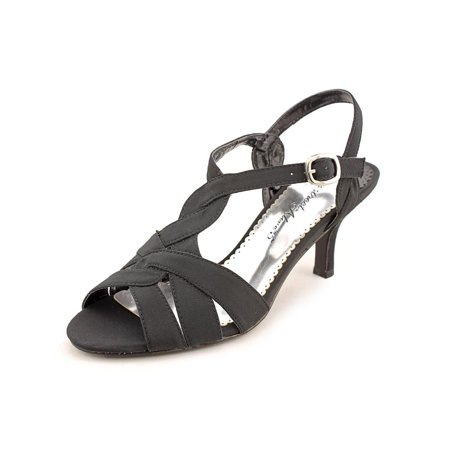 Easy Street Glamorous Women N/S Open Toe Canvas Black Sandals