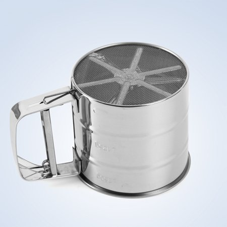 Stainless Steel 2-Cup Flour Sifter - Stainless Steel Hand Sifter Sieve Cup Baking Tool