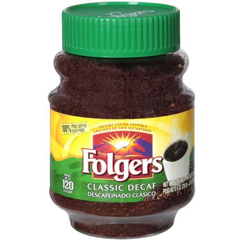 Folgers: Classic Decaf Instant Coffee, 8 oz