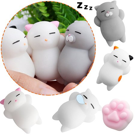 eKids 40 Pcs Cute Animal Mochi Squishy, Kawaii Mini Soft Squeeze Toy