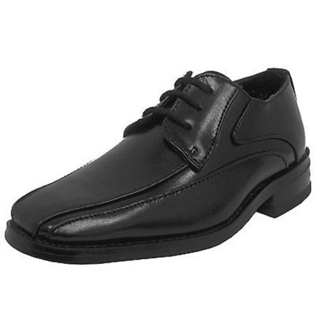Youth Jungle Moc - Stacy Adams Peyton 43333-001 Youth Boys Black Lace Up Comfort Moc Toe Dress Shoes