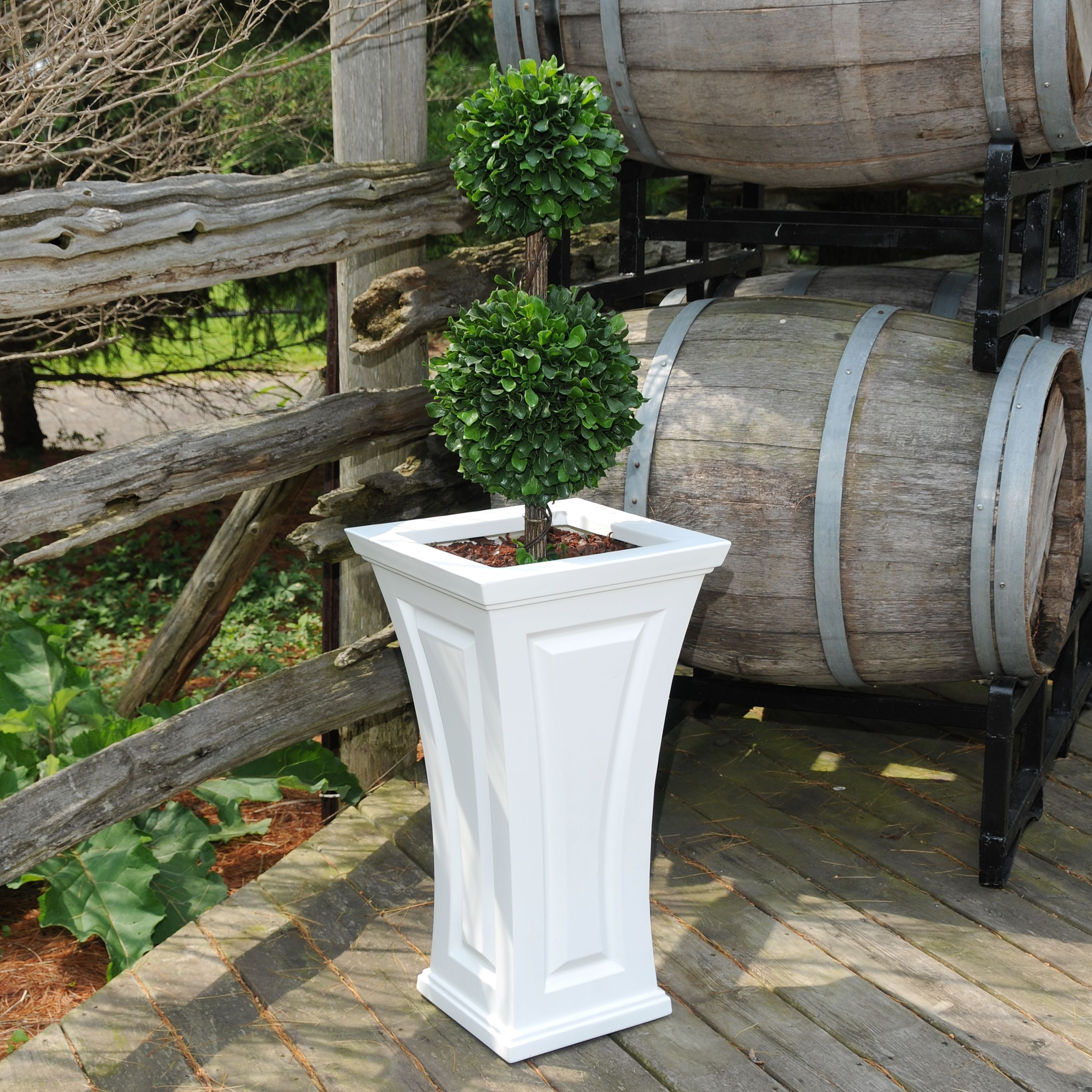 Cambridge Tall Planter White by Mayne Inc.
