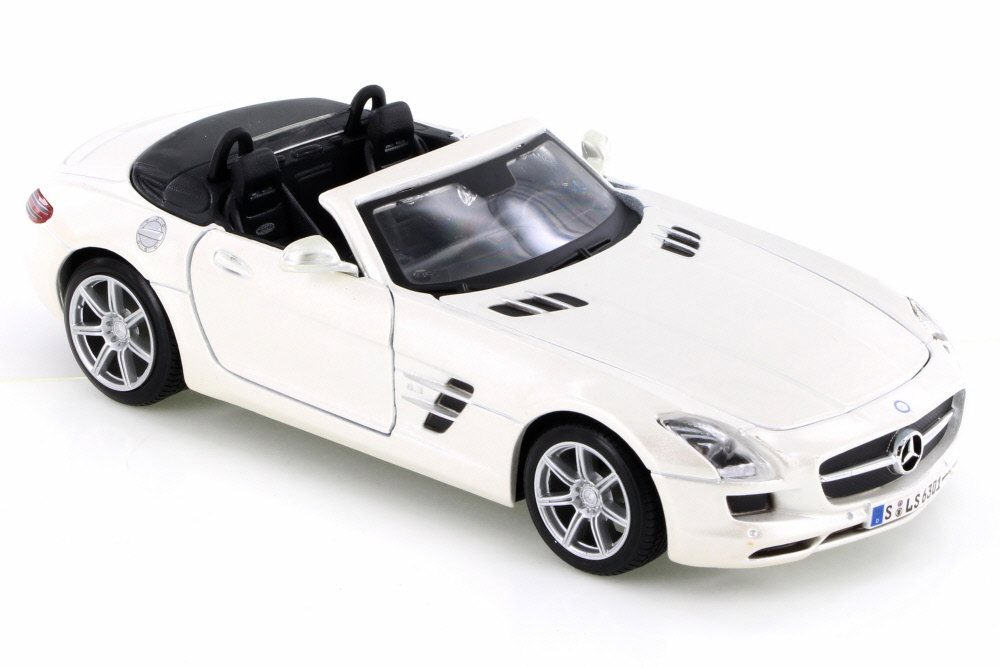 Mercedes-Benz SLS AMG Roadster Convertible, White Maisto 34272 1 24 Scale Diecast Model... by Maisto