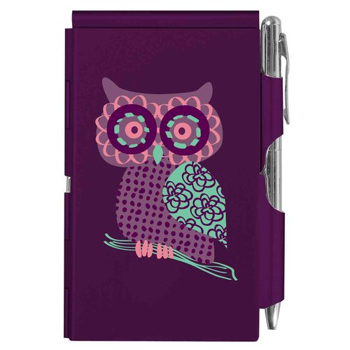 Flip Note-purple Owl