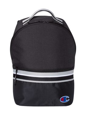 Champion 23L Striped Backpack One Size Black/ Black