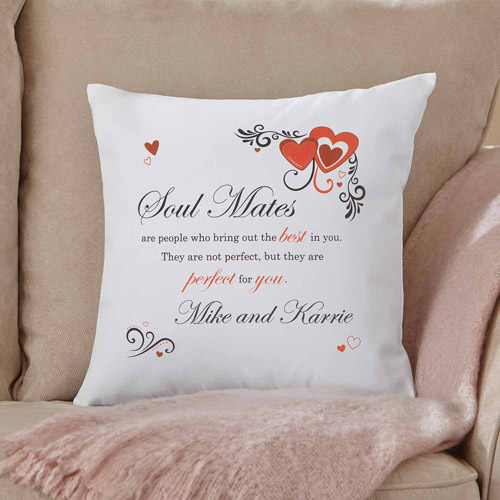 Personalized Perfect Soul Mates Pillow