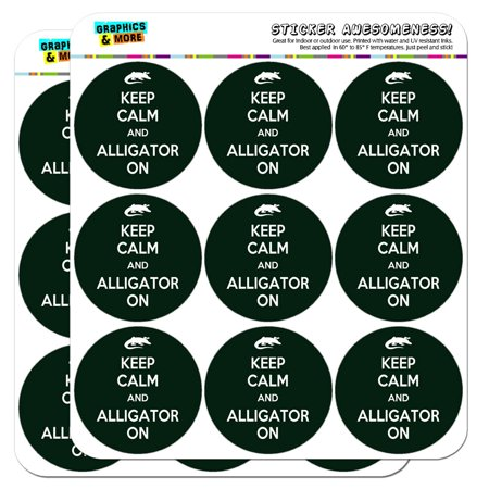 """Keep Calm And Alligator On 2"""" Scrapbooking Crafting Stickers"""