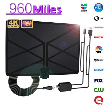 NEW 960Mile Range Antenna/Amplifier TV Digital HD HDTV UHD 1080p 4K Skywire US