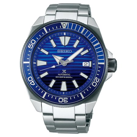 Seiko Mens Analog (Seiko Prospex SRPC93 SAVE THE OCEAN Samurai Diving Mens Watch )