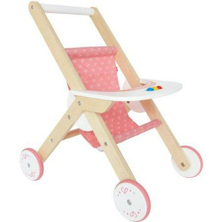 Hape Babydoll Stroller Toddler Wooden Doll Play Furniture ...