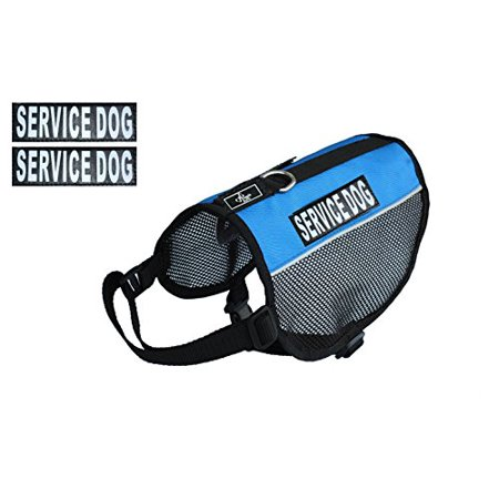 Service Dog mesh vest Harness Cool Comfort Nylon for dogs Small Medium Large Purchase comes with 2 reflective SERVICE DOG removable patches. PLEASE MEASURE your dog before ordering ()