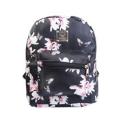 Lady Girls' Backpack Floral Printing Satchel PU Leather School Travel Daypack Bag Waterproof Knapsack