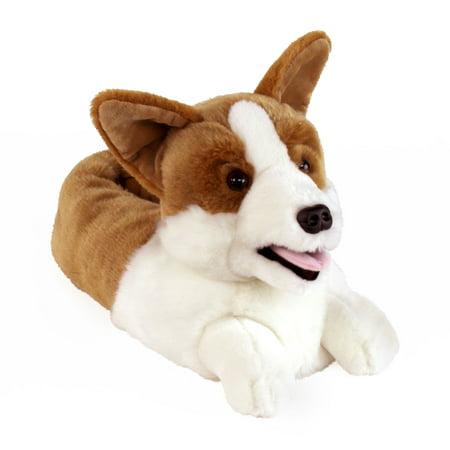 84060e58d8b0 AnimalSlippers.com - Corgi Slippers - Plush Dog Slippers - One Size -  Walmart.com