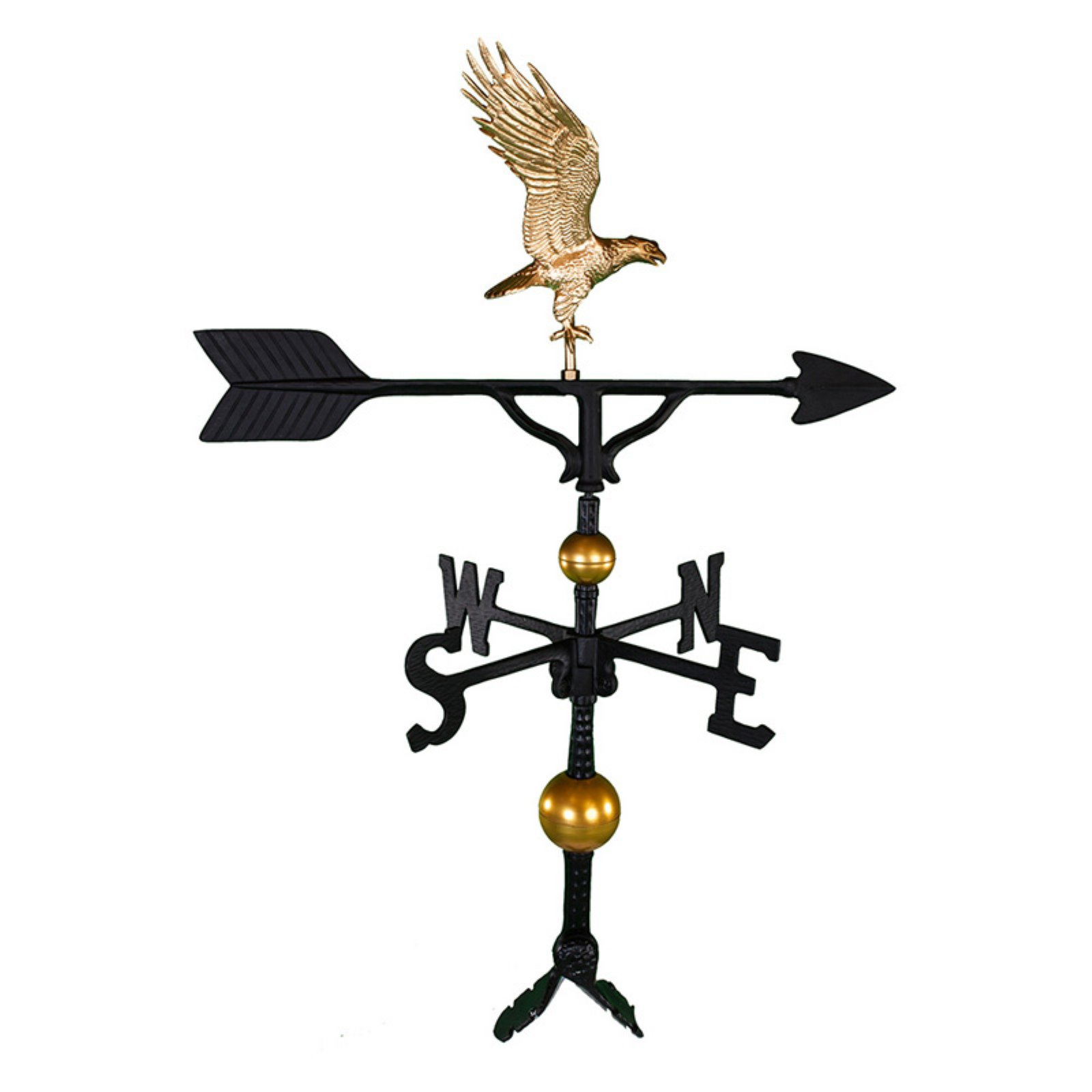 Deluxe Gold Full Bodied Eagle Weathervane 32 in. by Montague Metal Products
