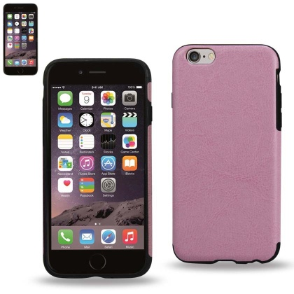 Genuine Real Leather Cover For Iphone6/6S Plus 5.5Inch Pink