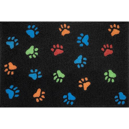 Puppy Love Paw Prints Family Pet Dog Accent Washable Rug 21 X 33 Inches - Puppy Paw Print