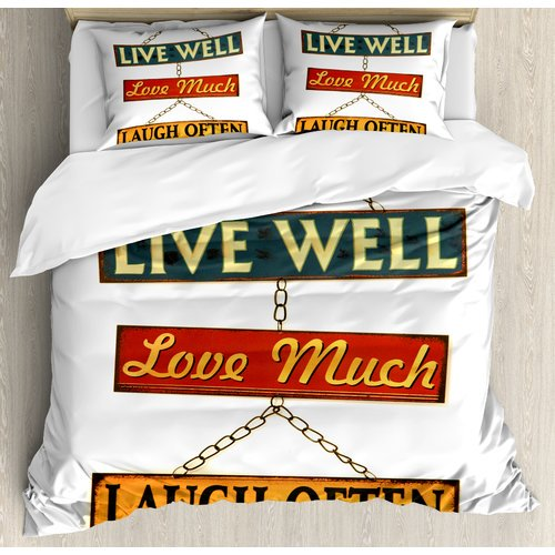 Ambesonne Live Laugh Love Well Rusty Signs Tied With Chains Print Duvet Cover Set Walmart Com Walmart Com,Baby Shower Decorations For Girl Elephant Theme