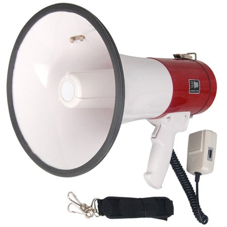 50 Watt Loud Megaphone with Siren Bullhorn Speaker Outdoor Portable Amplifier