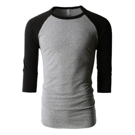 Tri Cycling Jersey - Tri Blend Raglan 3/4 Sleeve Baseball Jersey T-Shirt S-2XL