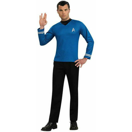 Star Trek Movie (2009) Blue Shirt Men's Adult Halloween Costume - Star Trek Adult Onesie