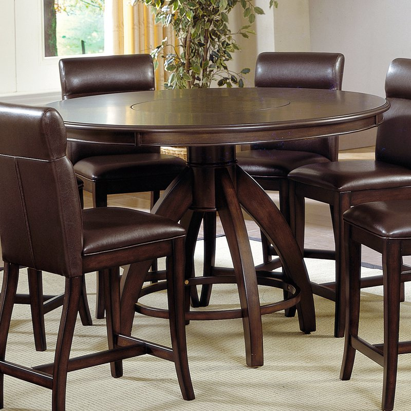 Hillsdale Nottingham Counter Height Dining Table-Dark Walnut