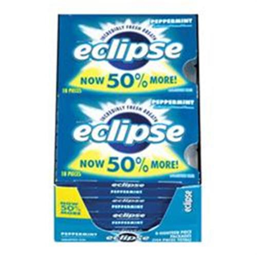 Eclipse  Sugar Free Gum Peppermint 8 packs (18 ct per pack) (Pack of 2)