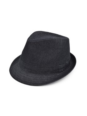 2a89a5e01cc Product Image Premium Jeans Fabric Solid Color Fedora Hat