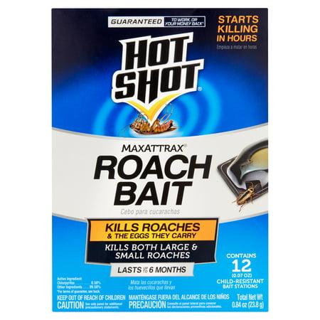 Hot Shot MaxAttrax Roach Bait, 12ct