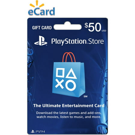 50 playstation store gift card sony digital download 799366792789. Black Bedroom Furniture Sets. Home Design Ideas